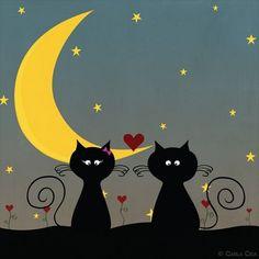 Gatos + Lua Minguante