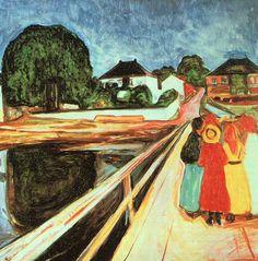 Piger på bro.