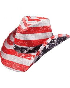 e59f97e37fa Peter Grimm Striped Patriot Flag Straw Cowboy Hat 2015 Fashion Trends