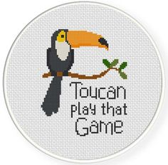 FREE Toucan Play That Game Cross Stitch Pattern