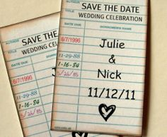 """Save the Dates for """"book-ish"""" couples"""