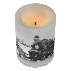 Santa and His Turkey Reindeer Flameless Candle