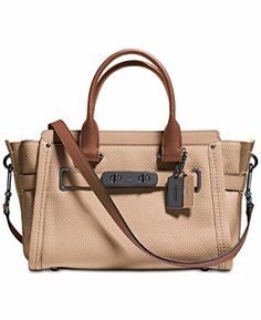 efe03986e1e Coach Swagger 27 Women's Beechwood Leather Satchel Crossbody Handbag Coach  Bags, Coach Purses, Coach