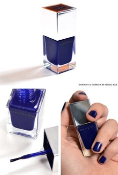 Givenchy Le Vernis in 30 Heroic Blue - Superstellar Makeup Look