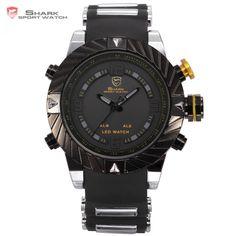 Goblin SHARK Sport Watch Dual Display Series Model SH168 Dual Movement Waterproof Wrist Watches //Price: $78.98 & FREE Shipping //         #SharkArmyWatch