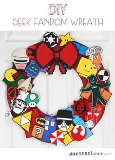 112 best our nerd home images on pinterest geek decor diy ideas ultimate fandom holiday wreath and other diy geek holiday projects solutioingenieria Gallery