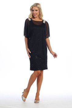 Modest Short Mother of the Bride Lace Dress Formal Cover Sheer - The Dress Outlet - 1 Plus Size Short Dresses, Plus Size Gowns, New Dress, Lace Dress, Modest Shorts, Plus Size Shorts, Light Jacket, Groom Dress, Mother Of The Bride