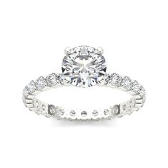 De Couer 14k White Gold 2 1/2ct TDW Diamond Engagement Ring (H-I, I2) with Bonus Necklace - Overstock™ Shopping - Top Rated De Couer Engagement Rings