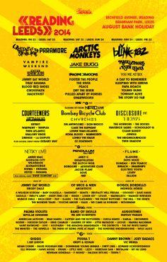2014 Line-up Poster | Reading Festival 2014