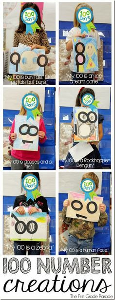 Hundred Day Creations--the BEST 100th day activities I have ever seen! by First Grade Parade