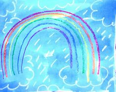 Primary Art: kindergarten rainbow