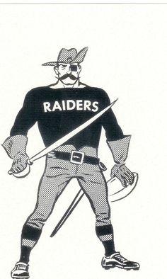 OAKLAND RAIDERS CARTOON MASCOT VINTAGE FOOTBALL NFL AFL