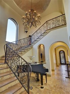Entryway and staircase in Austin, Texas