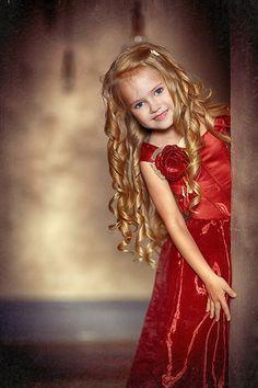 Beautiful little girl's Christmas dress.