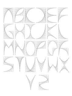 Digital Curve Stitch Typeface