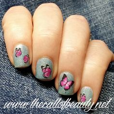 The Call of Beauty: ABC Challenge: Nubar Absolute Pink Butterflies Manicure
