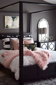 Master bedroom decor hacks: A great tip to aid give you home design eye would be to watch Home and Garden on tv. There are a lot of television programs out there that will give you many great ideas and just how all of you the latest design trends. Bedroom Makeover, Home Bedroom, Pink Bedroom, Bedroom Design, Home Decor, Room Inspiration, Bedroom Inspirations, Apartment Decor, Dream Rooms