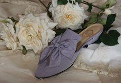 """""""Boudoir"""" in lilac moiré http://store.leschaussonsdelabelle.com"""
