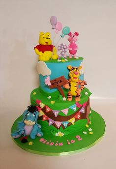 Winnie the  Pooh and friends cake by Galyna Harb