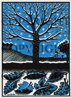 Cressida Bell Greetings Cards : Snowy Tree