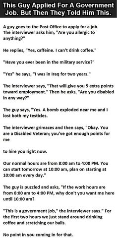This Guy Applied For A Government Job. But Then They Told Him This.