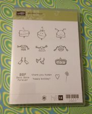 Rare Clear Mount Stampin Up Set BEST BOTS FOREVER Boy Girl Birthday Robots