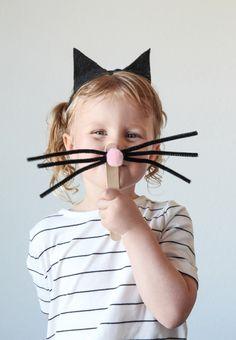 Easy DIY Kitty Cat Costume, perfect for a birthday party