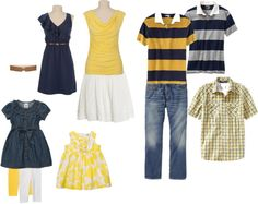 ideas for family pictures.what to wear; like the blue and yellow combo Family Reunion Photos, Family Pics, Kid Pics, Clothing Photography, Family Photography, Photography Outfits, Photography Ideas, Spring Family Pictures, Spring Pics