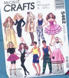 barbie+sewing+patterns | Sewing Pattern Fashion Doll Clothes by VintageTreasureHuntn