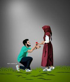 Best Couple Pictures, Love Couple Images, Cute Love Pictures, Cute Cartoon Pictures, Cute Couple Art, Couple Musulman, Image Couple, Couple Hands, Couple Pics