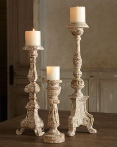 """Weathered"" Candlesticks at Neiman Marcus."