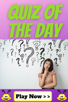 The quiz of the day is super fun & interesting. Get smarter & educate yourself while having fun with the quiz of the day. Come back every day to play the new daily quiz. #trivia #quiz #quizbeez #quizoftheday #dailyquiz #familytrivia #educationgames #educationfun #smartquizzes Kids Wedding Activities, Thanksgiving Activities For Kids, Preschool Learning Activities, Fun Activities For Kids, Funny Quiz Questions, Trivia Questions For Kids, Quizzes For Kids, Quizzes Games, Wtf Fun Facts