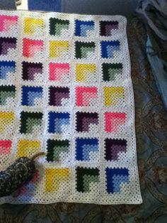 Mitered granny squares
