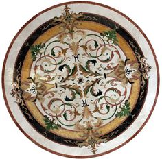 Lucerne Marble Medallion, ID338. Check Pictures Of Other Inlays, Wood And  Stone Medallions