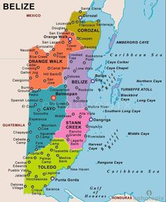 Regional map of Belize Maps Pinterest Belize and Regional