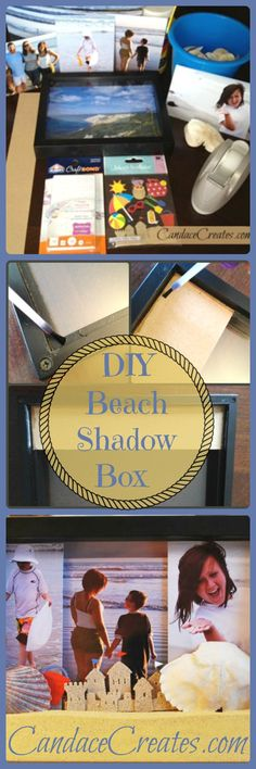 Looking for something to create with all those beach vacation pictures, shells, and sand? Try this! DIY Beach Shadow Box