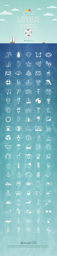 #Free Summertime Icon set - Click here to download!