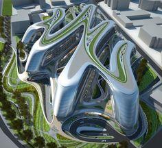 Sky SOHO  Zaha Hadid | Shanghai - Zaha is an amazing designer and artist.