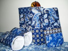 Quilted eyeglass case in French country blue by ExpressionQuilts, $4.99