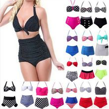 Bikinis Set 2015 Women RETRO Pinup Swimwear Rockabilly Vintage High Waisted Swimwear Swimsuit Push Up Bathing Suit Beachwear -- This is an AliExpress affiliate pin. Details on product can be viewed on AliExpress website by clicking the VISIT button Pin Up, Plus Size Swimsuits, Women Swimsuits, The Bikini, Bikini Set, Pinup Rockabilly, Beachwear, Swimwear, Bikini Fashion