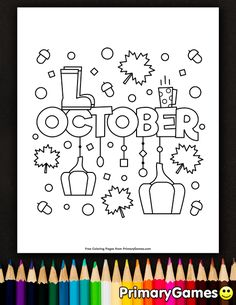 Free printable online Fall Coloring Pages eBook for use in your classroom or home from PrimaryGames. Print and color this October coloring page. Fall Coloring Pages, Coloring Pages To Print, Coloring Sheets, Coloring Books, Free Online Coloring, Free Adult Coloring Pages, Wood Burning Stencils, Calendar Pages, Needlepoint Patterns
