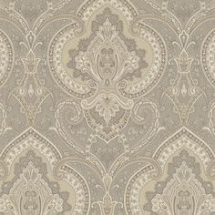 Castlehead Paisley - Pewter - Paisleys - Wallcovering - Products - Ralph Lauren Home - RalphLaurenHome.com