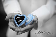 """This Cinderella heart-shaped ring holder doubles as """"something blue"""" #Disney #wedding #rings #Cinderella"""