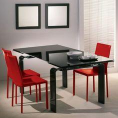 Der Esstisch Valentino vom italienischen Designermöbel-ProduzentenLa Vetreria ist ein besonderes Highlight in unserem Sortiment.Das Spezielle an diesem Modell ist die ausziehbare Tischplatte, wodurch der Tisch nahezu3 Meter lang wird und bequem bis zu acht Personen Platz bietet. Die 10 mm dicke, aus Sicherheitsglas hergestellte Tischplatte kann einseitig oder beidseitig vergrößert werden. Die gebogenen Glasfüße bestehen aus 19 mm dickem lackiertem Glas.  Farben:  Schwarz, Weiß, Rot, Blau… Glass Furniture, Valentino, Table, Home Decor, Safety Glass, Dinning Table Set, Monochrome, Model, Projects