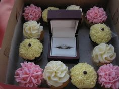 awww #Cupcakes  http://partycupcakeideas.com/wp-content/uploads/2010/10/Cupcake-engagement-567x425.jpg
