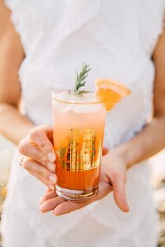 Grapefruit and lime refresher with a ginger-rosemary syrup | Photo by Tawni Eakman | Styling and drink development by Willow & Ivy