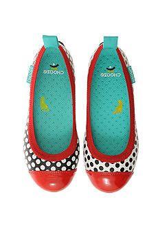 Chooze: Dream Pop (Black/White/Red) Adorable Girls Ballet Flats with polka dots Girls Ballet Flats, Girls Dress Shoes, Dream Pop, Ballet Fashion, Funky Fashion, Black White Red, Childrens Shoes, Shoe Brands, Polka Dots