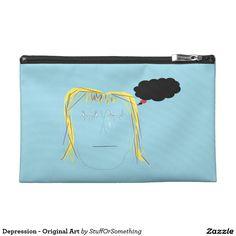 Depression - Original Art Travel Accessory Bag