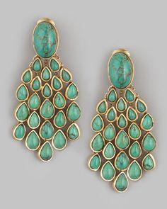 Aurelie Bidermann Turquoise Drop Earrings