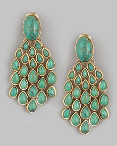 Aurelie Bidermann Turquoise Drop Earrings